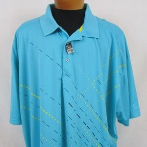 PGA Tour Pro Series Blue S/S Polo Golf Shirt 5X